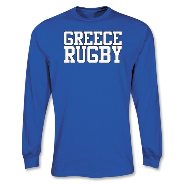 Greece Supporter LS Rugby T-Shirt (Royal)