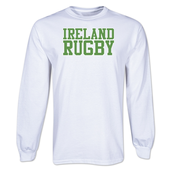 Ireland Supporter Long Sleeve Rugby T-Shirt (White)