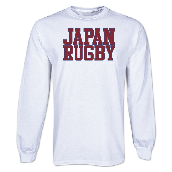 Japan Supporter LS Rugby T-Shirt (White)