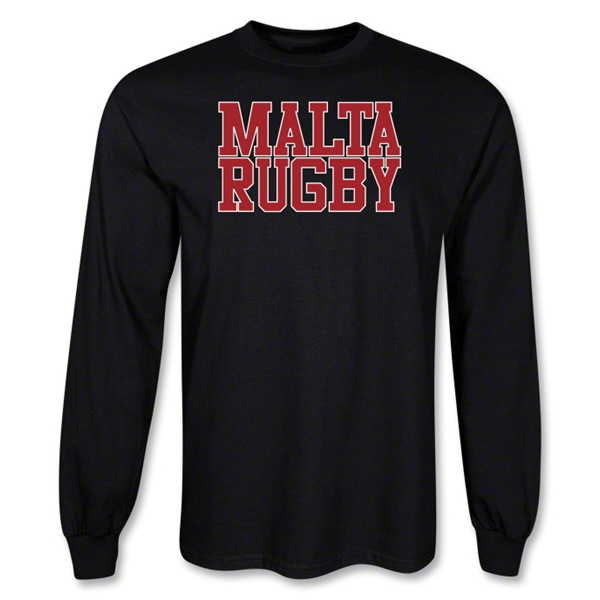 Malta Supporter LS Rugby T-Shirt (Black)
