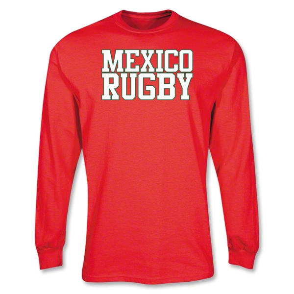 Mexico Supporter LS Rugby T-Shirt (Red)