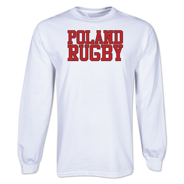 Poland Supporter LS Rugby T-Shirt (White)