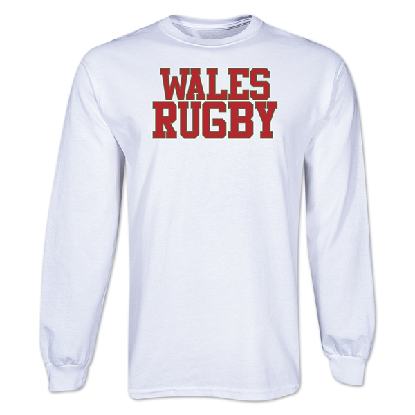Wales Rugby Supporter LS T-Shirt (White)
