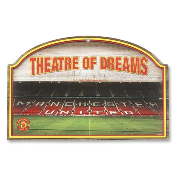 Manchester United Wood Sign