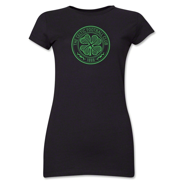 Celtic Junior Women's T-Shirt (Black)