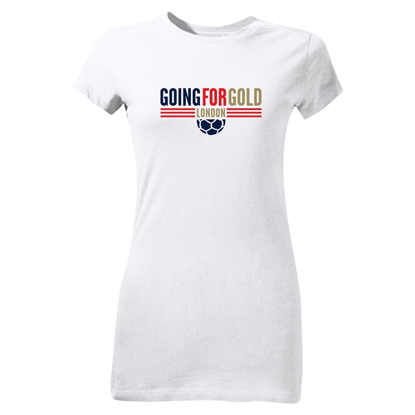 Going For Gold Junior Women's T-Shirt (White)