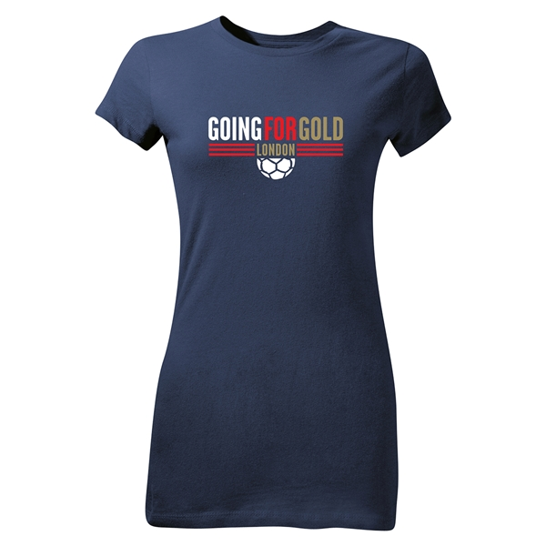 Going For Gold Junior Women's T-Shirt (Navy)