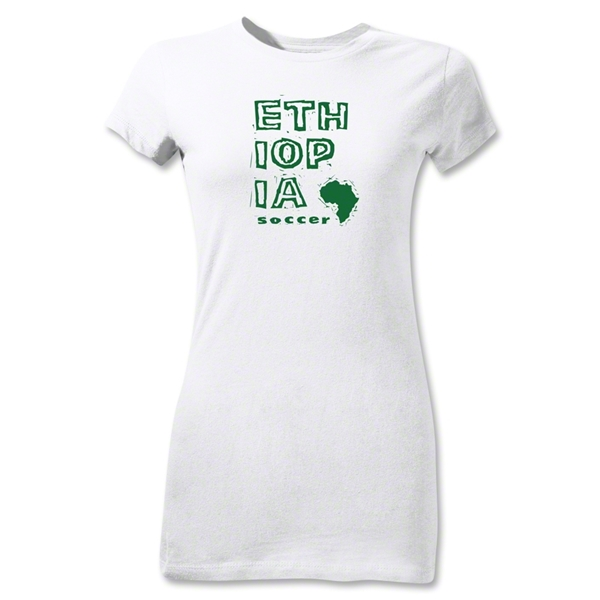 Ethiopia Junior Women's Country T-Shirt (White)