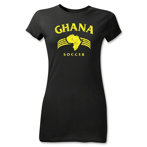 Ghana Junior Women's Country T-Shirt (Black)