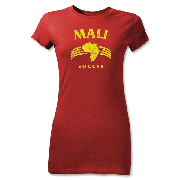 Mali Junior Girls Country T-Shirt (Red)