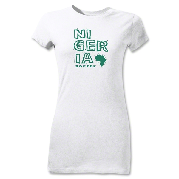 Nigeria Junior Women's Country T-Shirt (White)