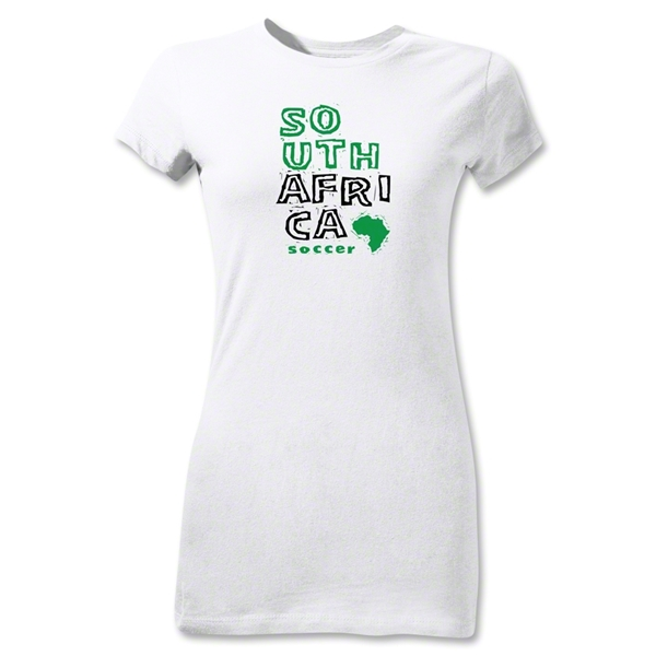 South Africa Junior Women's Country T-Shirt (White)