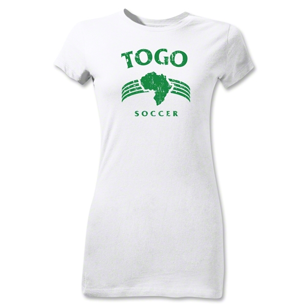 Togo Junior Women's Country T-Shirt (White)