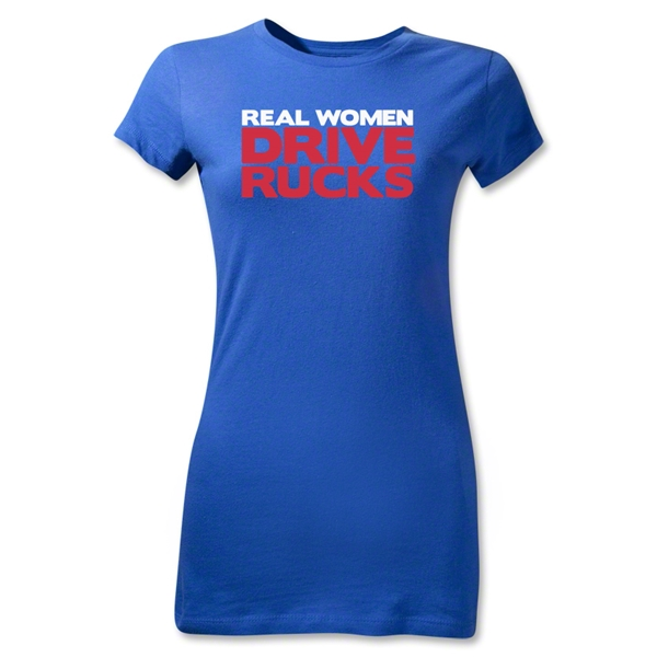 Real Women Drive Rucks Junior Women's T-Shirt (Royal)