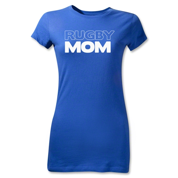 Rugby Mom 2 Junior Women's T-Shirt (Royal)
