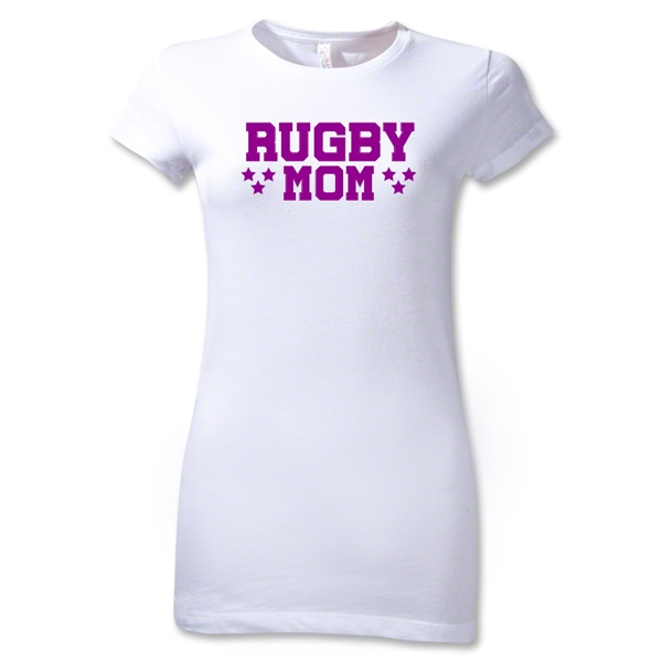 Rugby Mom 3 Junior Women's T-Shirt (White)