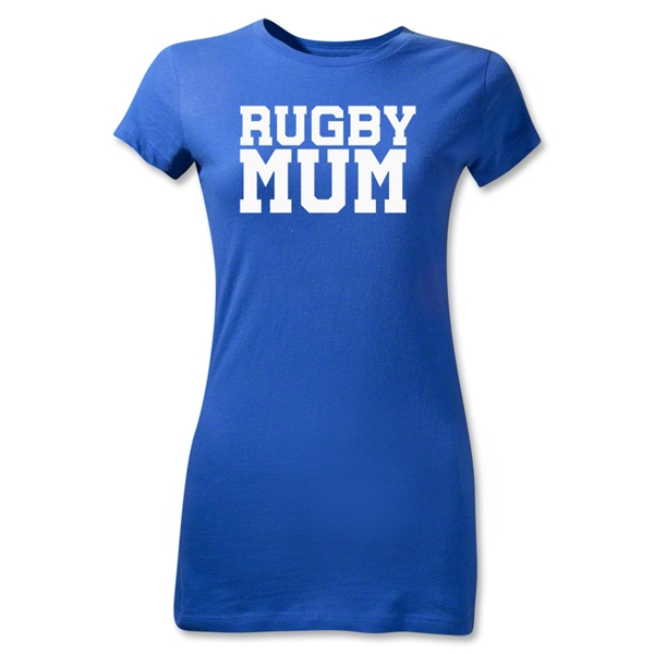 Rugby MUM Junior Women's T-Shirt (Royal)