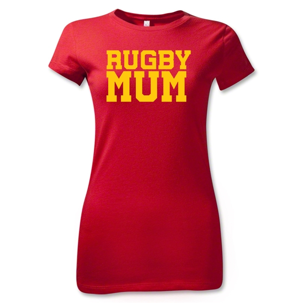 Rugby MUM Junior Women's T-Shirt (Red)