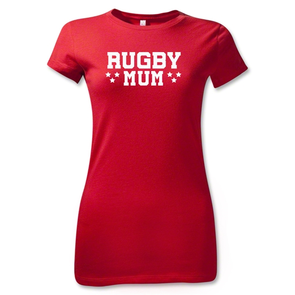 Stars Rugby Mum Junior Women's T-Shirt (Red)