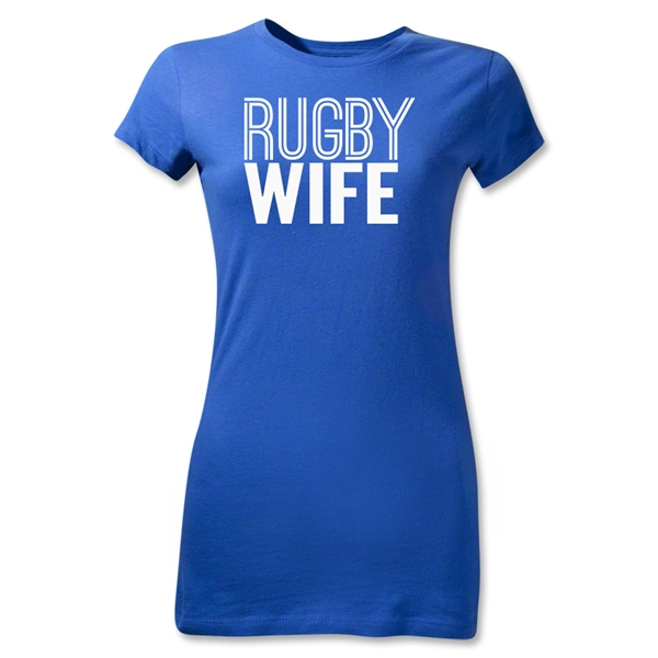 Rugby Wife Junior Women's T-Shirt (Royal)