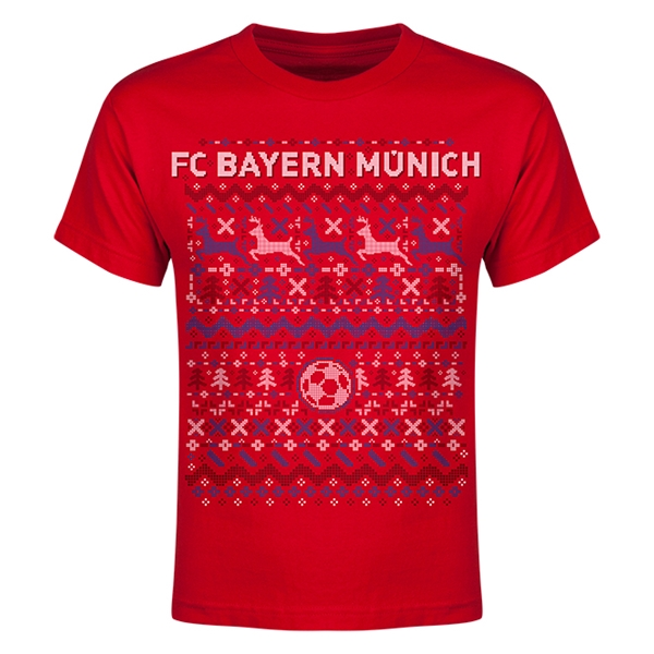 bayern munich christmas sweater youth t shirt. Black Bedroom Furniture Sets. Home Design Ideas