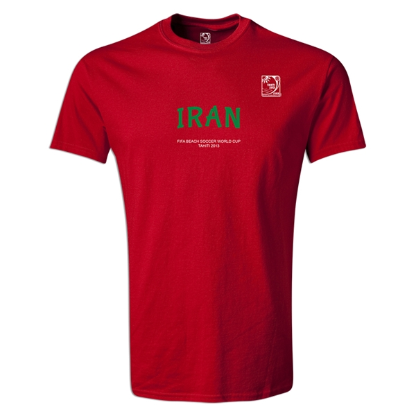 FIFA Beach World Cup 2013 Iran Youth T-Shirt (Red)