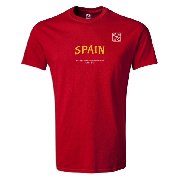FIFA Beach World Cup 2013 Spain Youth T-Shirt (Red)