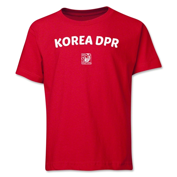 North Korea FIFA U-17 Women's World Cup Costa Rica 2014 Youth Core T-Shirt (Red)