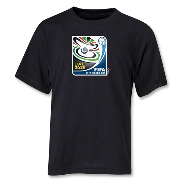 FIFA U-17 World Cup 2013 UAE Youth Official Emblem T-Shirt (Black)