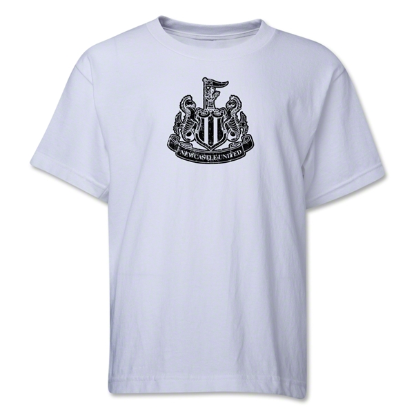 Newcastle United Distressed Youth T-Shirt (White)