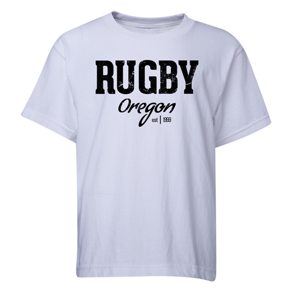 Rugby Oregon Youth T-Shirt (White)