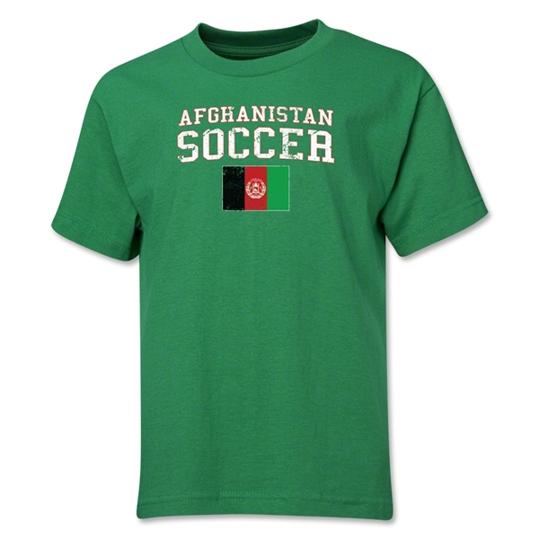Afghanistan Youth Soccer T-Shirt (Green)