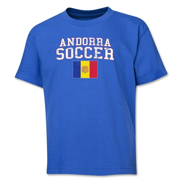 Andorra Youth Soccer T-Shirt (Royal)
