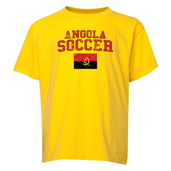 Angola Youth Soccer T-Shirt (Yellow)