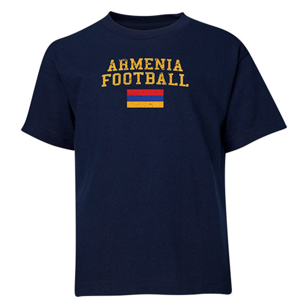 Armenia Youth Football T-Shirt (Navy)