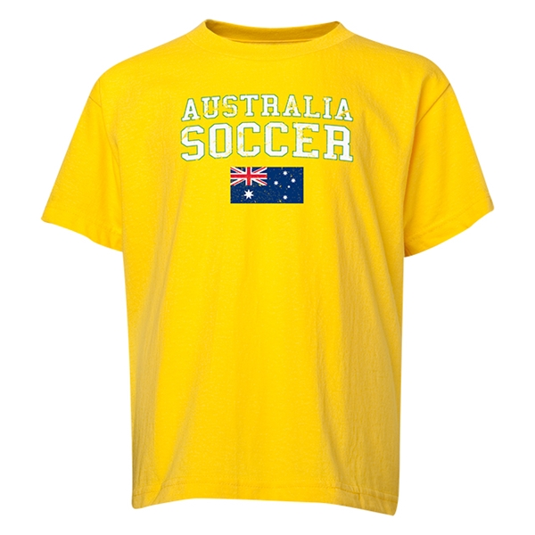 Australia Youth Soccer T-Shirt (Yellow)