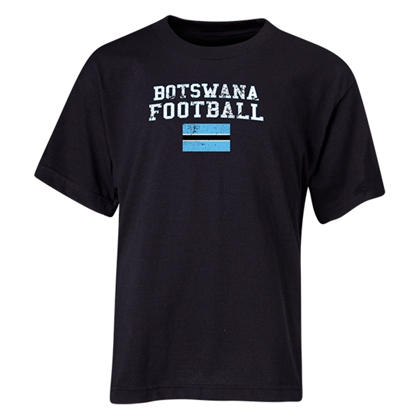 Botswana Youth Football T-Shirt (Black)