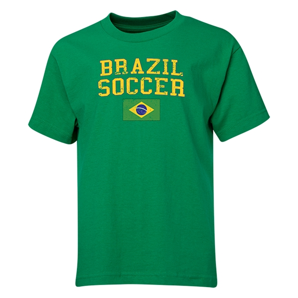 Brazil Youth Soccer T-Shirt (Green)