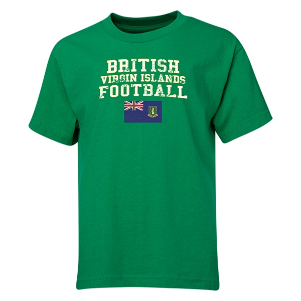 British Virgin Islands Youth Football T-Shirt (Green)