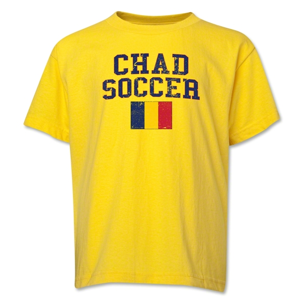 Chad Youth Soccer T-Shirt (Yellow)