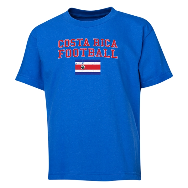 Costa Rica Youth Football T-Shirt (Royal)