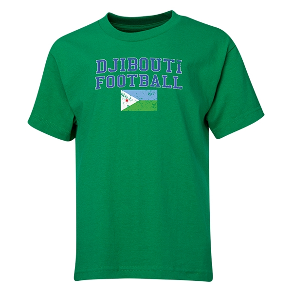 Djibouti Youth Football T-Shirt (Green)