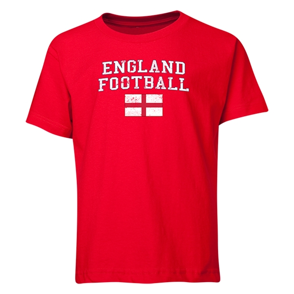 England Youth Football T-Shirt (Red)
