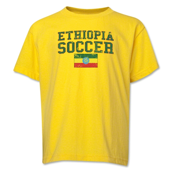 Ethiopia Youth Soccer T-Shirt (Yellow)