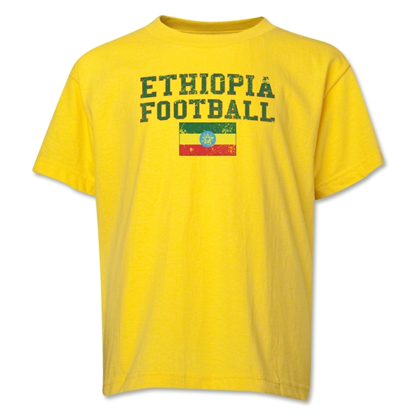 Ethiopia Youth Football T-Shirt (Yellow)