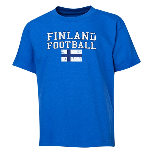 Finland Youth Football T-Shirt (Royal)