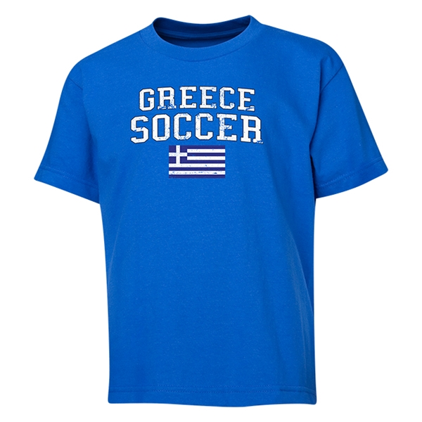 Greece Youth Soccer T-Shirt (Royal)