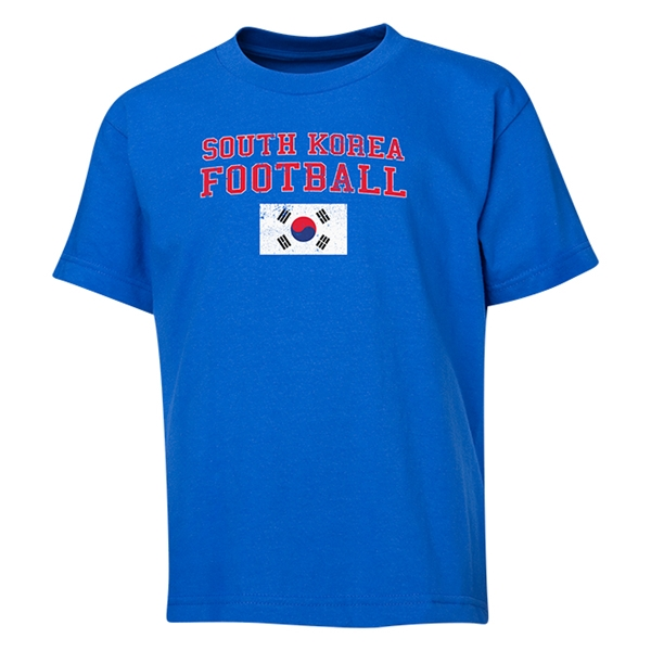 South Korea Youth Football T-Shirt (Royal)