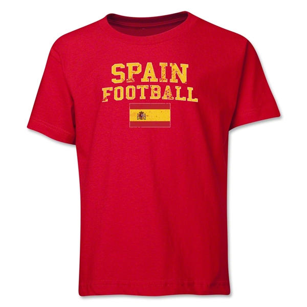 Spain Youth Football T-Shirt (Red)