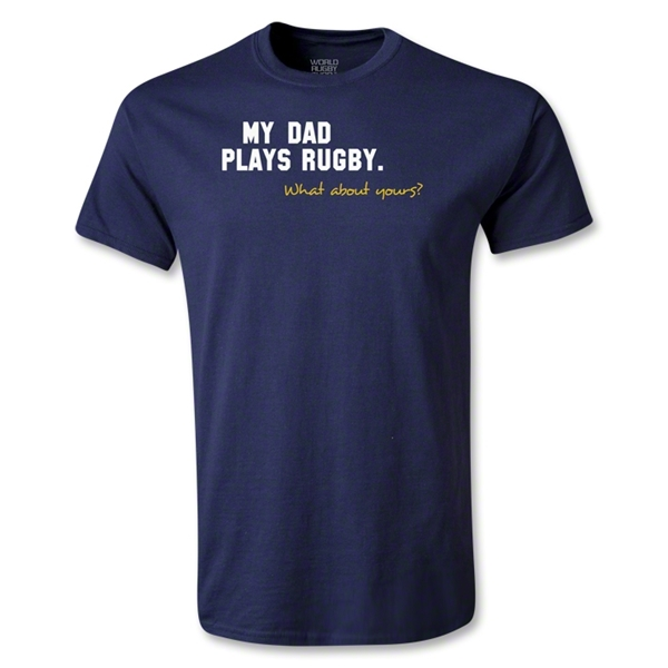 My Dad Plays Rugby Youth T-Shirt (Navy)